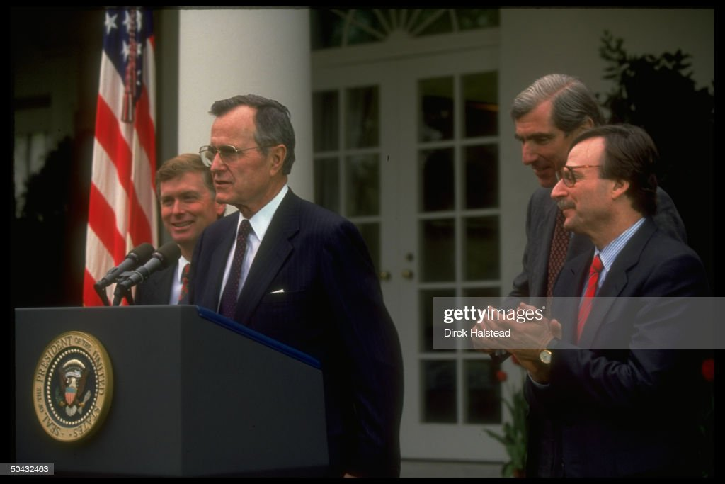 Pres. Bush speaking during reform regulation extension signing... News Photo - Getty Images