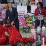 President Obama And First Lady Participate In Toys For