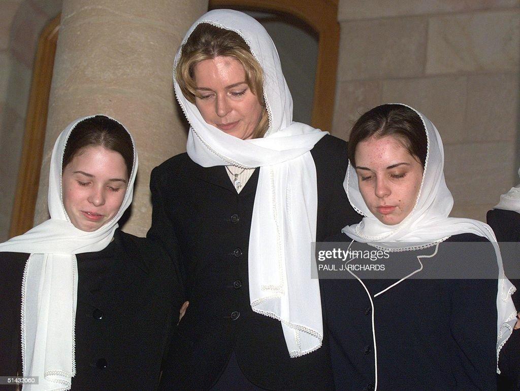 Queen Noor Wife Of The Late King Hussein Of Jordan Stands