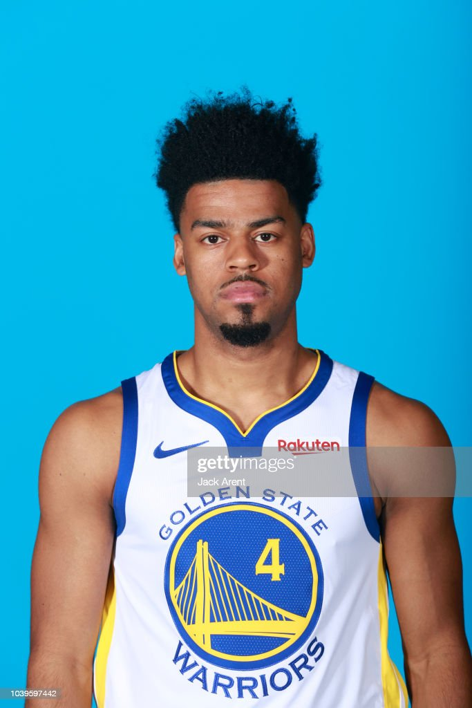 Quinn Cook Hairstyle : quinn, hairstyle, Quinn, Golden, State, Warriors, During, Media, September..., Photo, Getty, Images