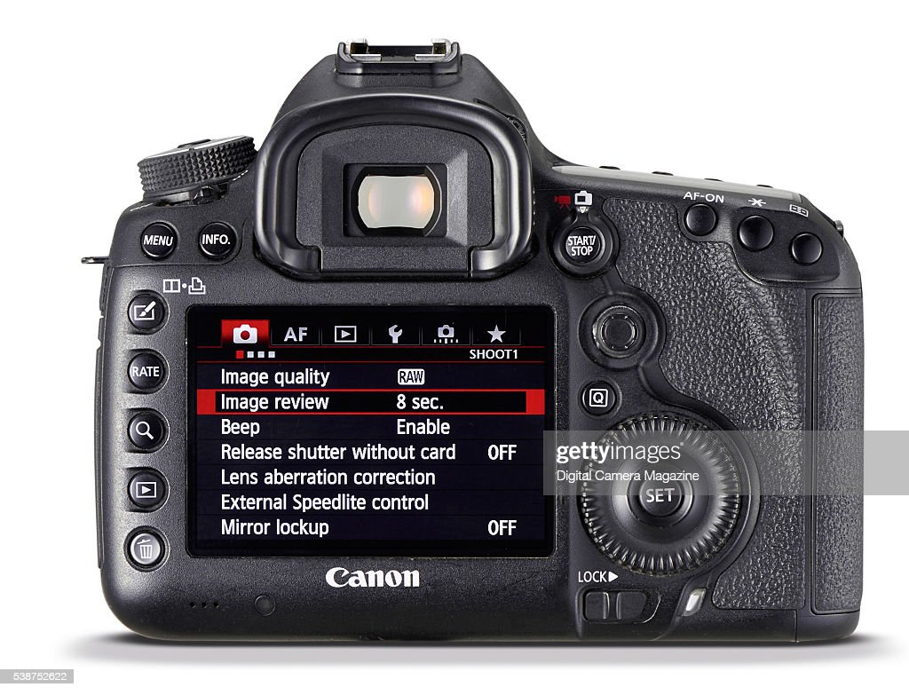 hight resolution of rear view of a canon eos 5d mk iii dslr camera taken on october 12