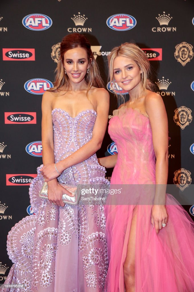 Rebecca Judd And Jessie Murphy Attends 2018 Brownlow Medal