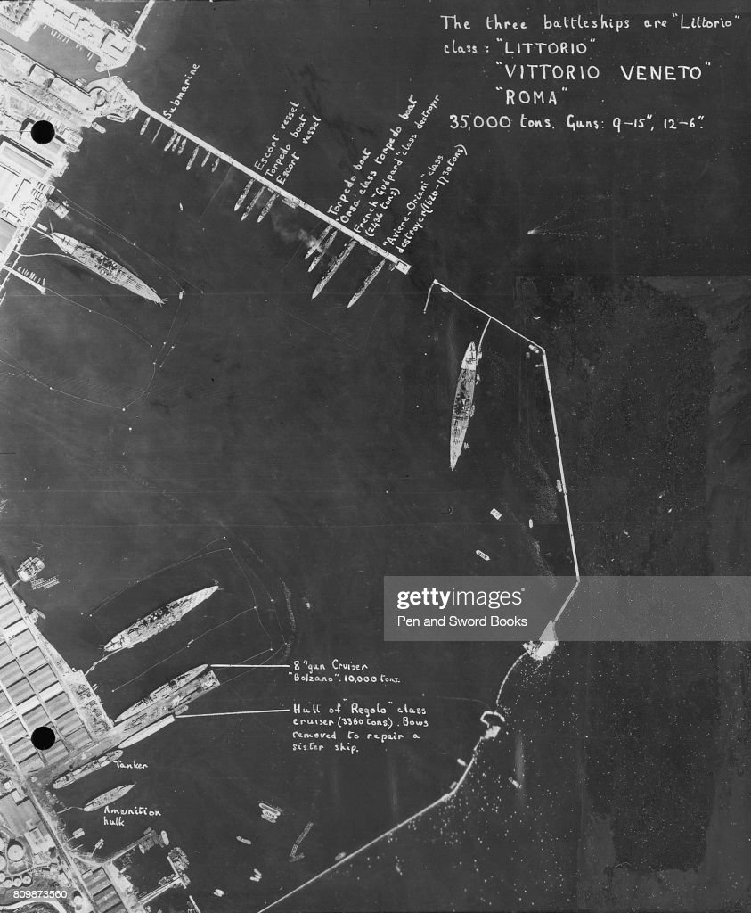 hight resolution of a reconnaissance of a german dock labeling all the boats and submarines news photo