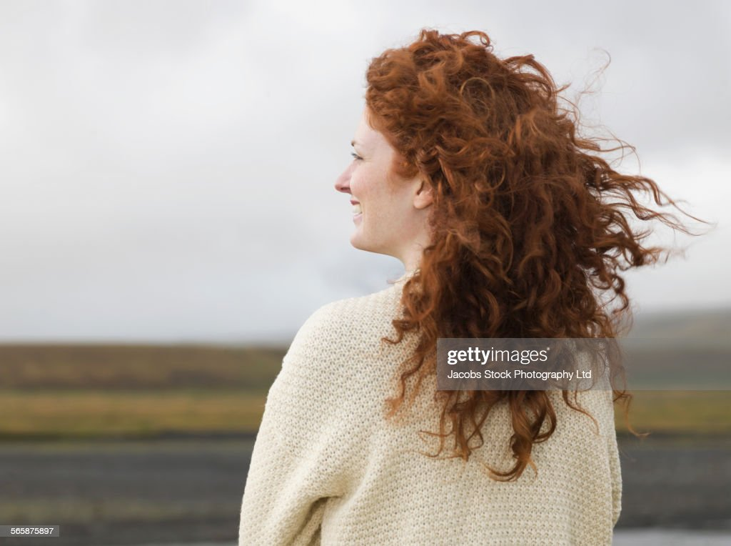 red hair wind stock