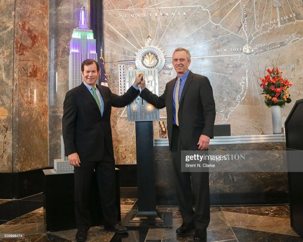 Riverkeeper Lights Empire State Building In Celebration Of 50th Anniversary Getty