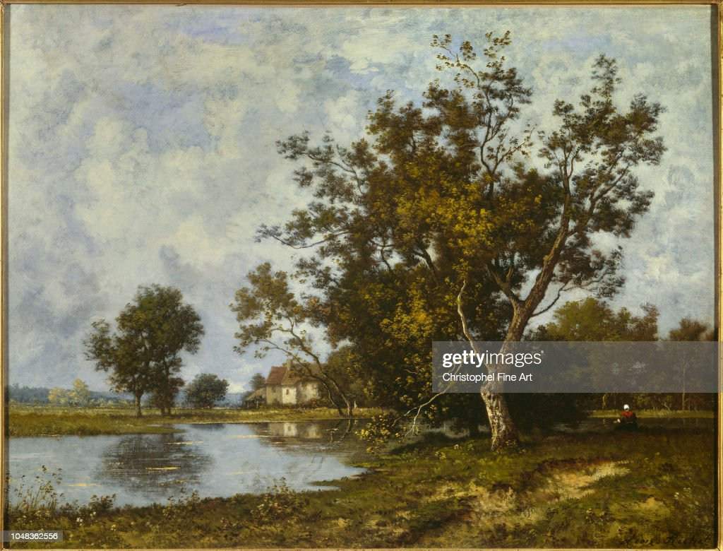 richet leon 20 eme siecle landscape at the pond private collection news photo getty images