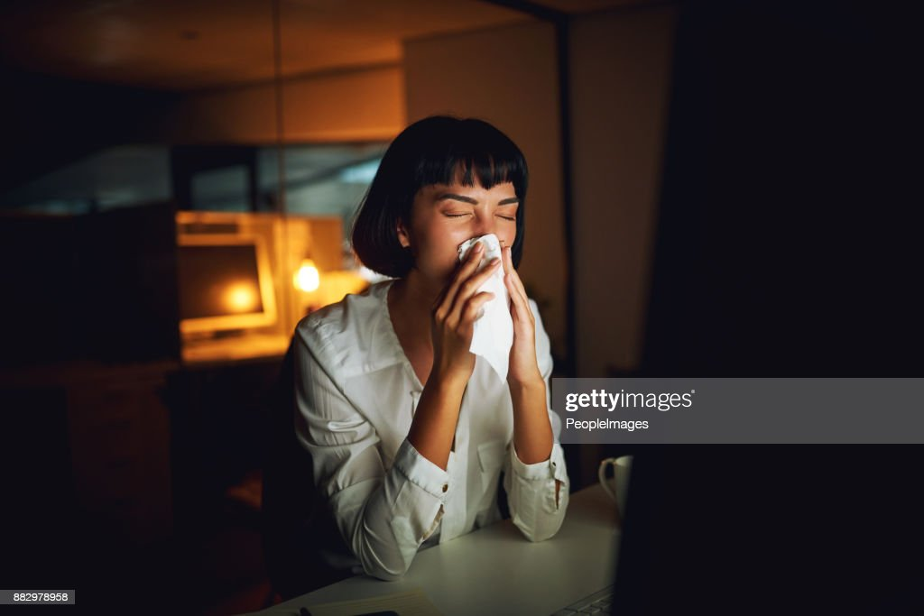 Risking Her Health For The Sake Of The Deadline High-Res Stock Photo - Getty Images