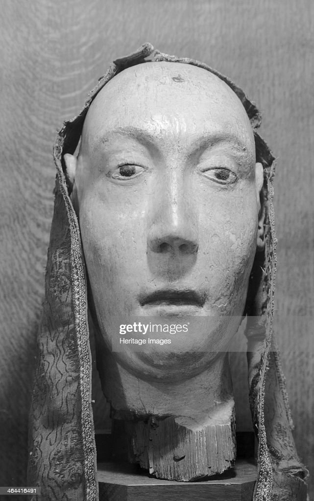 Royal funeral effigy of Anne of Bohemia. Westminster Abbey.... Foto di attualità - Getty Images