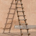 Rustic Wooden Ladder High Res Stock Photo Getty Images