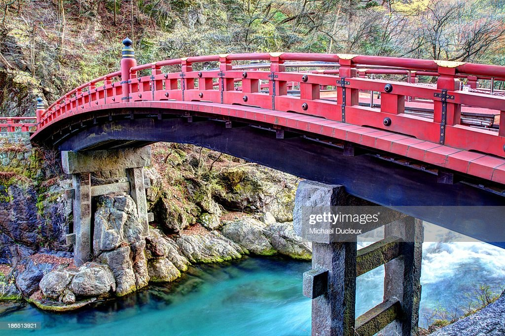 Sacred Shinkyo Red Bridge In Nikko Japan High-Res Stock Photo - Getty Images