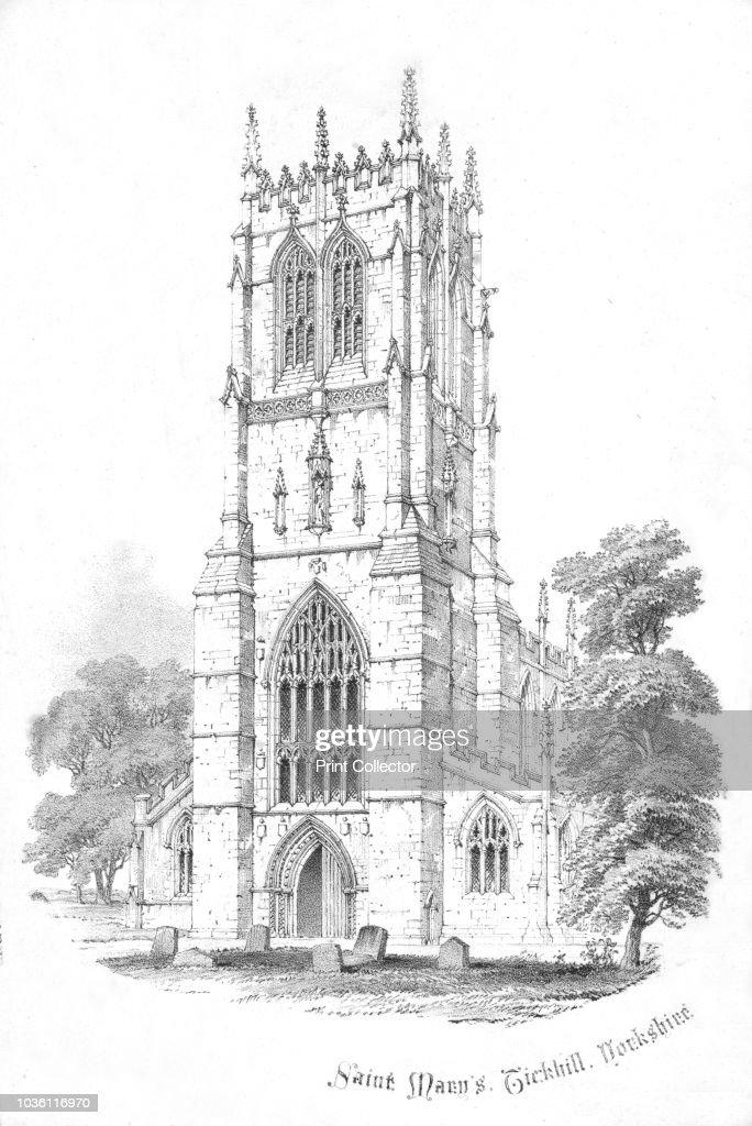 Saint Mary's, Tickhill. Yorkshire', circa 1850s. St Mary's