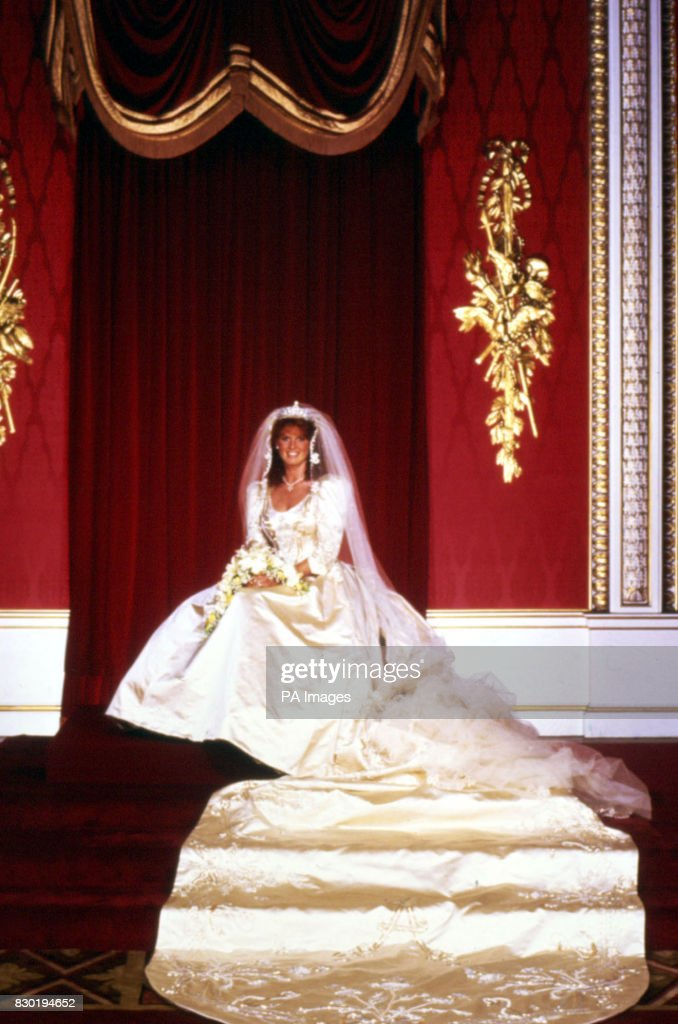 Sarah Ferguson Duchess of York in her wedding gown at