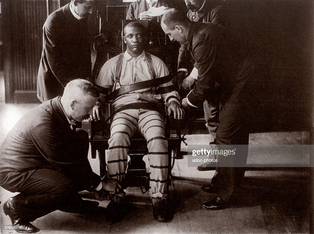 death by electric chair video executive drafting stock photos and pictures a sentenced to on the at sing prison in 1900