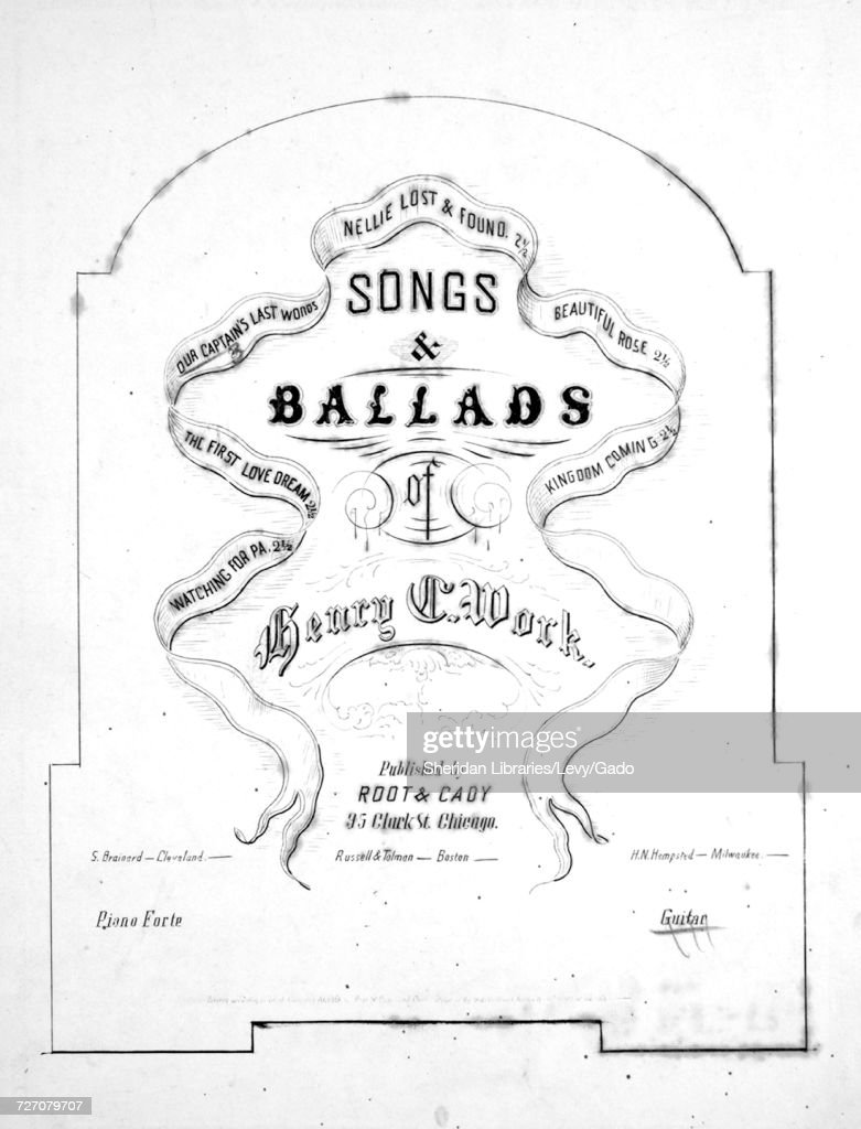 Sheet music cover image of the song 'songs and Ballads of
