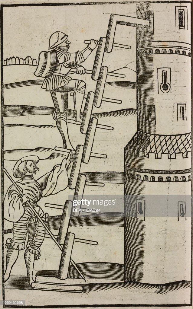 Siege Ladder : siege, ladder, Siege, Ladder,, Woodcut, Militari, Libri, Quatuor, Publius..., Nieuwsfoto's, Getty, Images