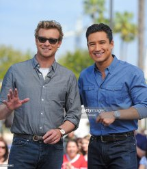 Simon Baker And Mario Lopez Visit 'extra' Universal