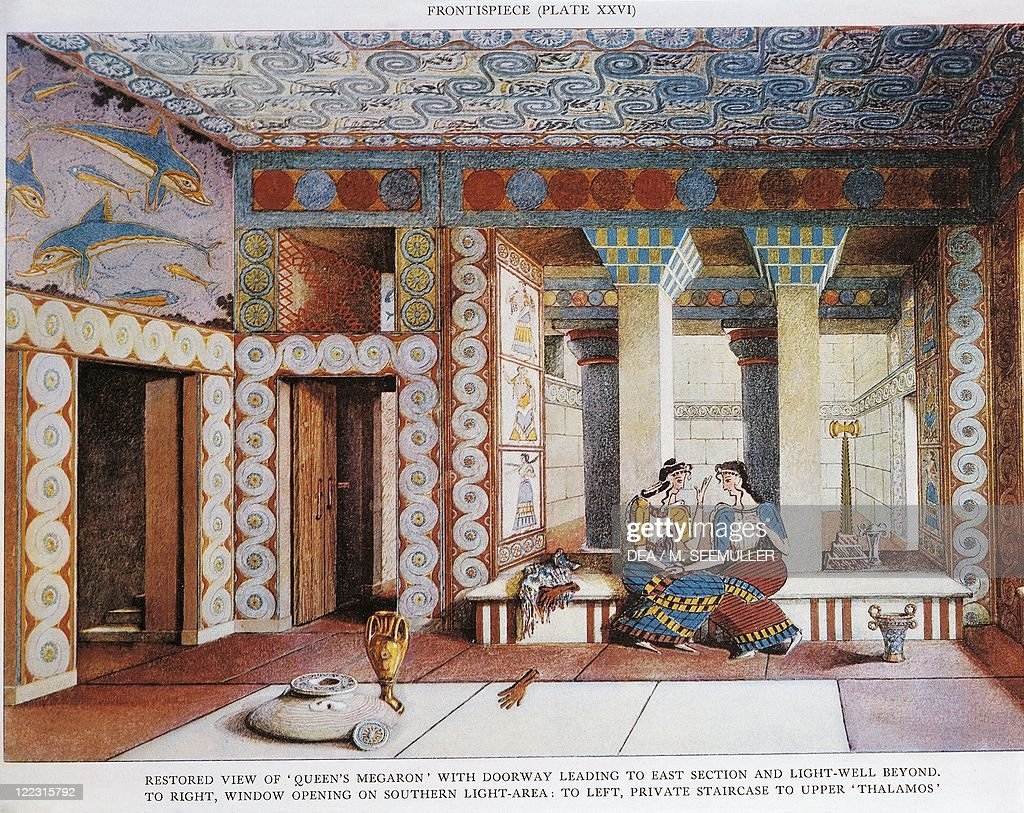 Sir Arthur John Evans  The palace of Minos at Knossos