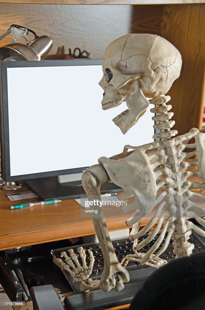 best computer chair gaming office chairs australia skeleton on stock photo | getty images