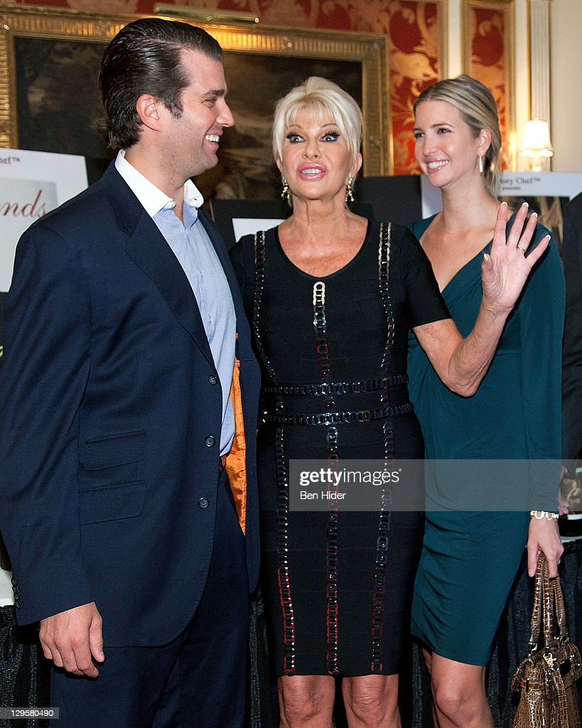Socialites Donald Trump Jr.. Ivana Trump and Ivanka Trump attend the... News Photo - Getty Images