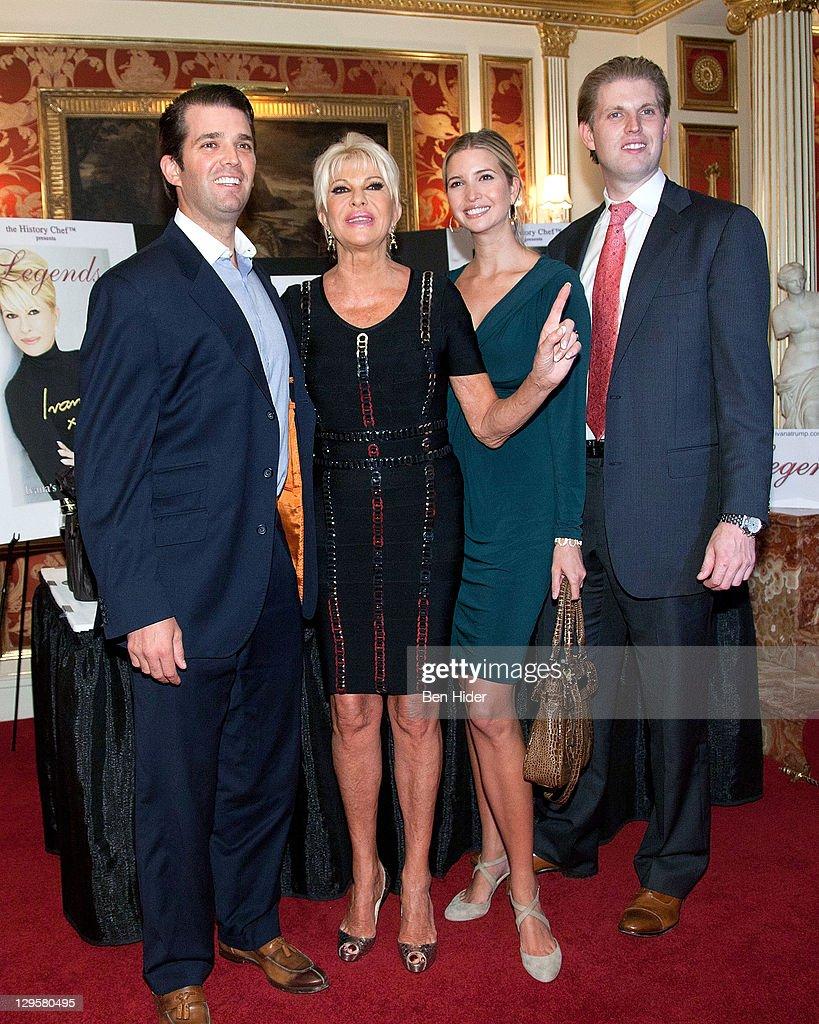 Socialites Donald Trump Jr.. Ivana Trump. Ivanka Trump and Eric Trump... News Photo - Getty Images