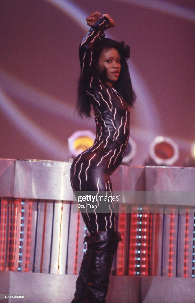 Soul Train Line Dancing : train, dancing, Train, Dancer, Crystal, Calhoun, Dance, Circa, 1991-1992., Photo, Getty, Images