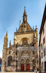 St Theobalds Church Thann Medieval Catholic Church In Alsace France High Res Stock Photo Getty Images