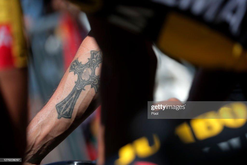 https www gettyimages com detail news photo start primoz roglic of slovenia and team jumbo visma tattoo news photo 1270228257
