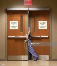 Surgeon In Doorway Stock Photo | Getty Images
