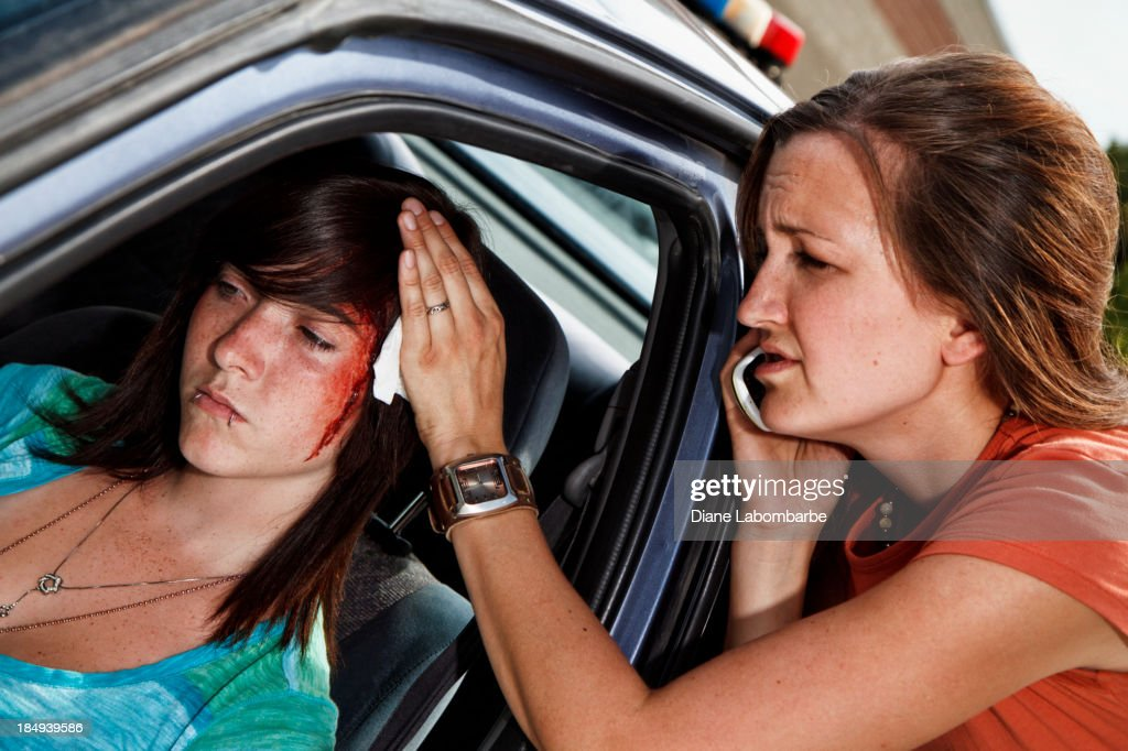 Teenager In A Car Accident Head Injury High-Res Stock ...