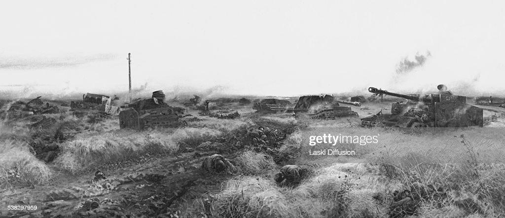 The Battle of Kursk. a World War II battle between German and Soviet... Nieuwsfoto's - Getty Images