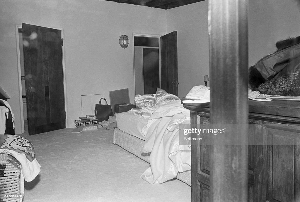 The bedroom in which Marilyn Monroe was found dead of a