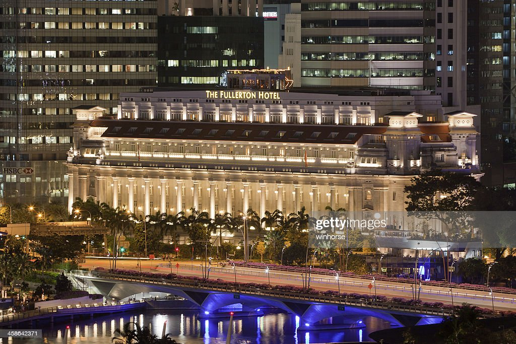 The Fullerton Hotel In Singapore Stock Photo Getty Images