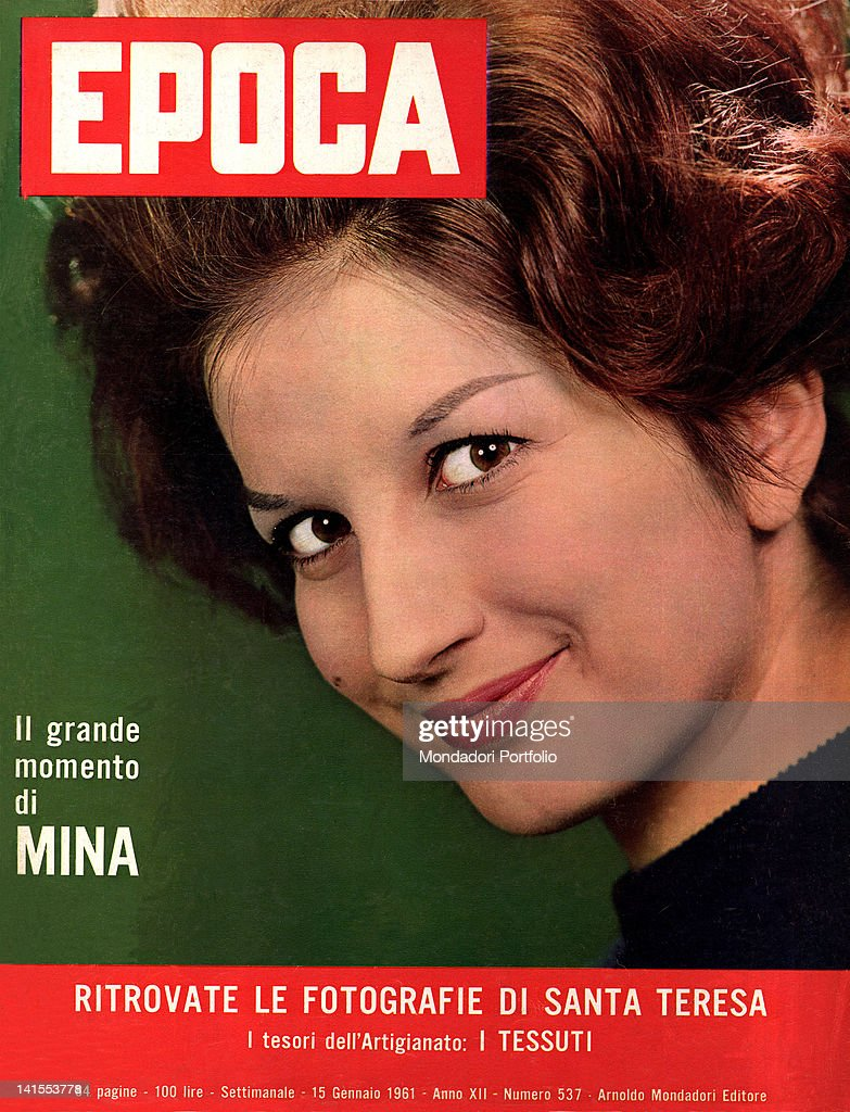 The Italian Singer Mina On The Weekly Magazine Epoca Cover