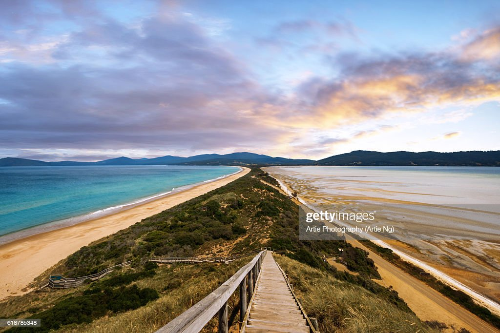 The Neck Of Bruny Island South Eastern Coast Of Tasmania Australia High-Res Stock Photo - Getty Images