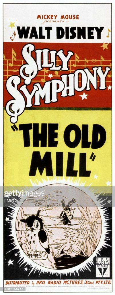 The Old Mill 1937 : Mill,, Poster,, Australian, Poster, 1937., Photo, Getty, Images