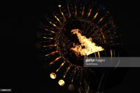 The Lighting of the Olympic Cauldron Photos and Images ...