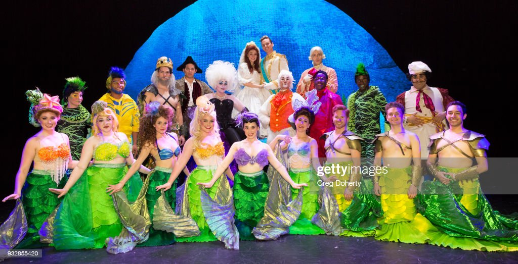 The Soundstage Live Little Mermaid Cast pose for cast photo following... News Photo - Getty Images