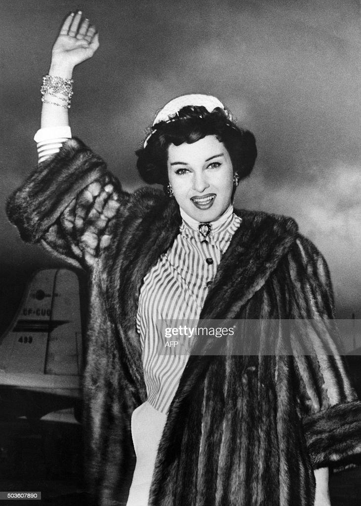 This Photo Taken On April 9 1955 Shows Italian Actress