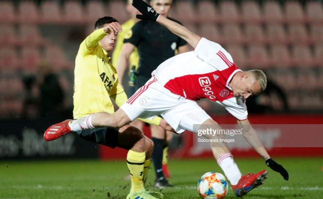 Tijjani Reijnders Of Az Alkmaar U23 Noa Lang Of Ajax U23