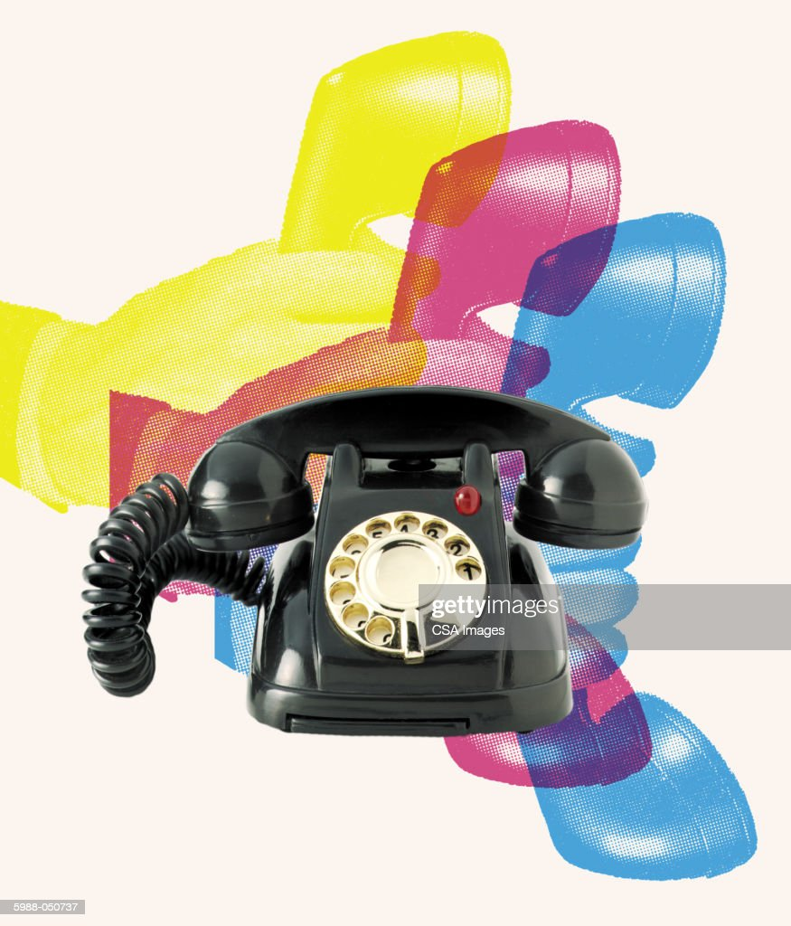 hight resolution of toy rotary telephone stock photo