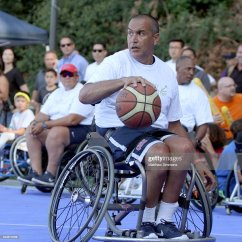 Wheelchair Drake Toyo Revolving Chair Trooper Johnson Plays In A Celebrity Basketball
