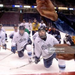 Hockey Player Diagram Honda Civic 1995 Radio Wiring University Of Maine Players Watch Head Coach Tim Whitehead A Play During Practice Thu