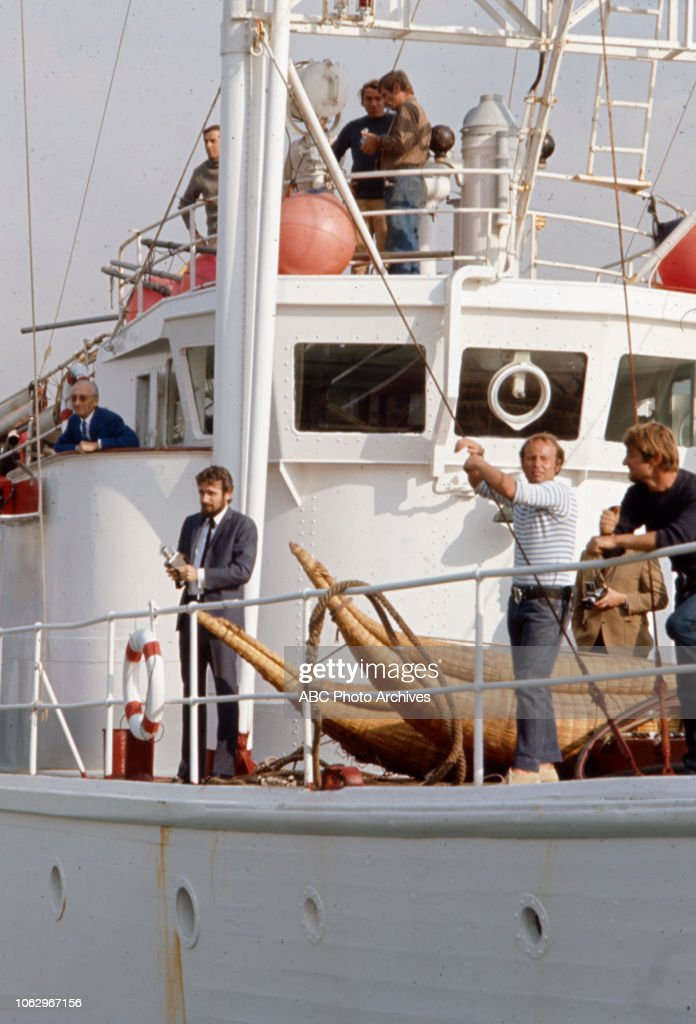 Jacques-yves Cousteau Pierre-yves Cousteau : jacques-yves, cousteau, pierre-yves, Jacques-Yves, Cousteau,, Philippe-Pierre, Cousteau, Board, RV..., Photo, Getty, Images