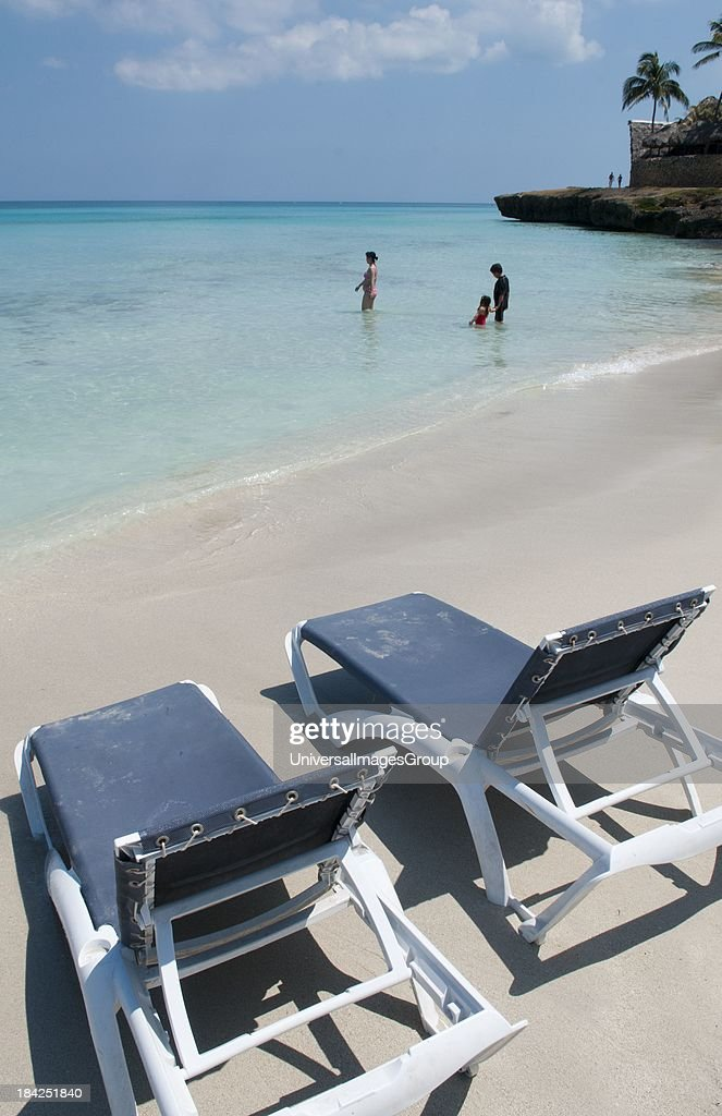 perfect beach chairs chair and tent rentals varadero cuba waiting for tourists pictures getty images