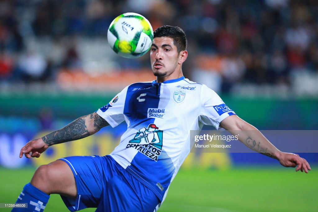 Victor Guzman Of Pachuca Controls The Ball During The 4th