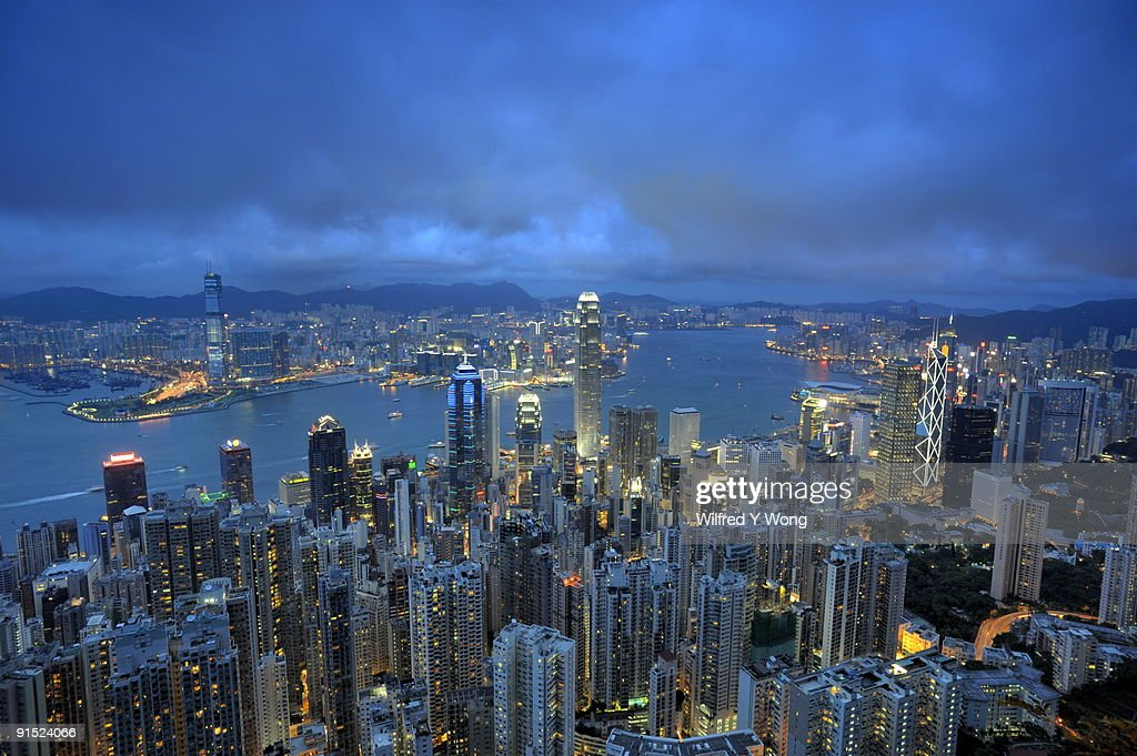 View From The Peak Hong Kong Victoria Harbor High-Res Stock Photo - Getty Images
