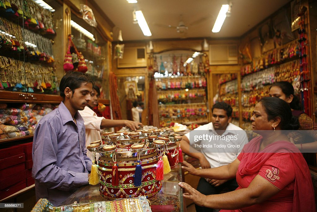 View of Wedding Accessories at Suhaag Store in Patiala Punjab India Pictures  Getty Images