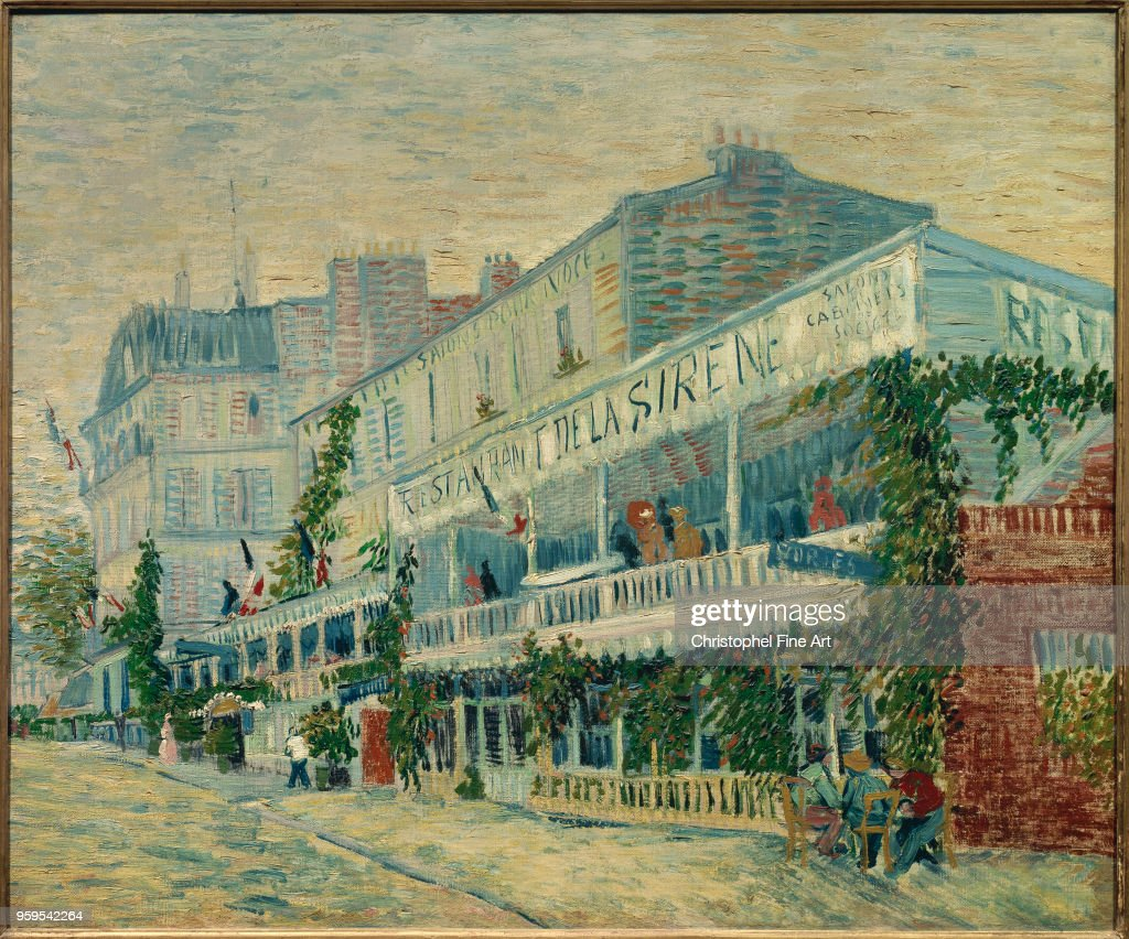 Vincent Van Gogh . The 'Restaurant de la Sirene' at Asnieres Oil on... News Photo - Getty Images