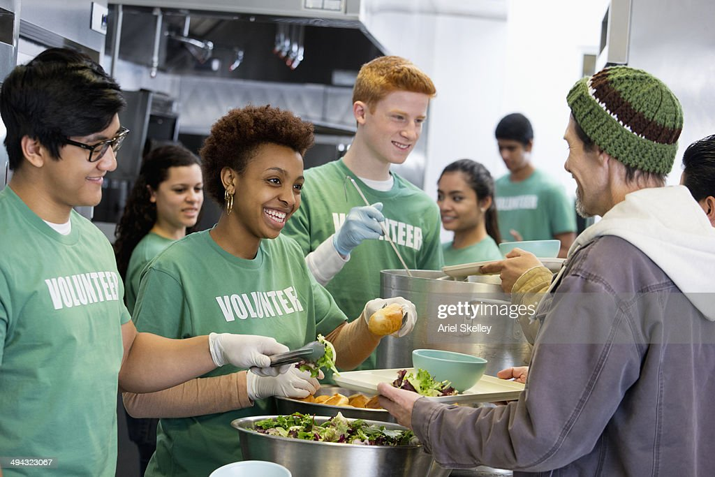 Volunteers Working In Soup Kitchen Stock Photo  Getty Images