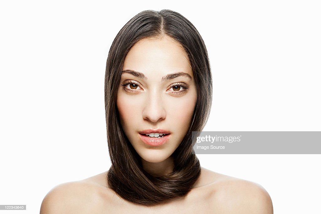 woman with long hair wrapped
